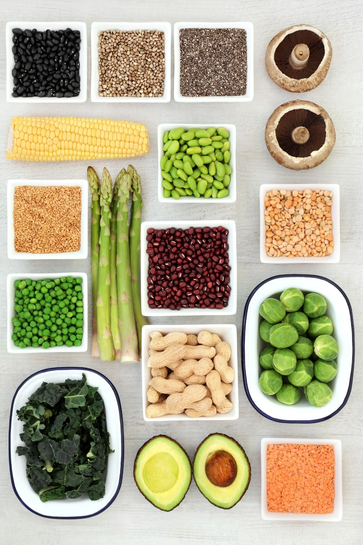 assortment of plant based foods on a table