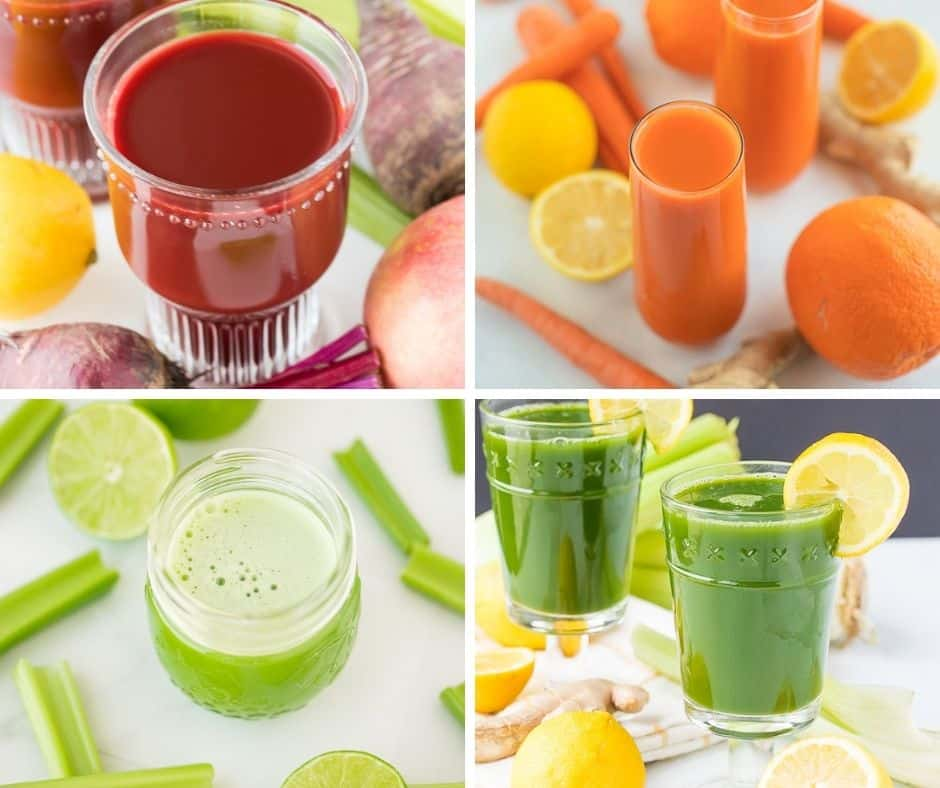best juicing recipes for beginners round up collage