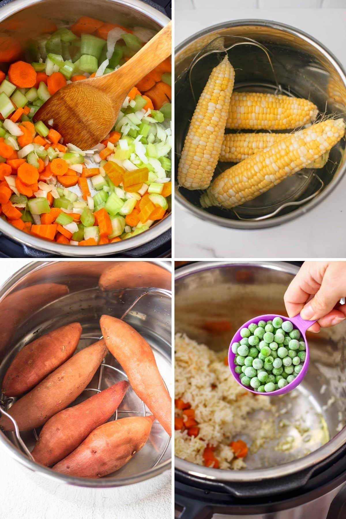 collage of healthy instant pot recipes for beginners