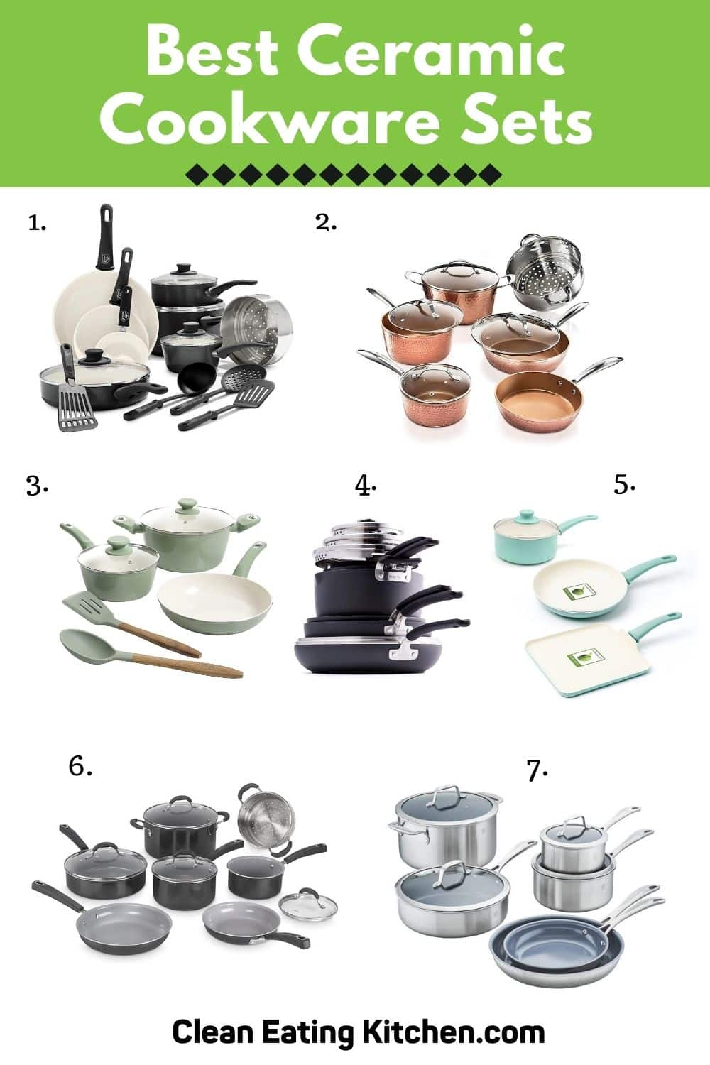 best ceramic cookware sets infographic
