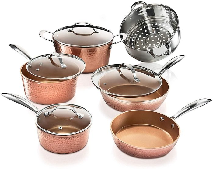 gotham ceramic copper set