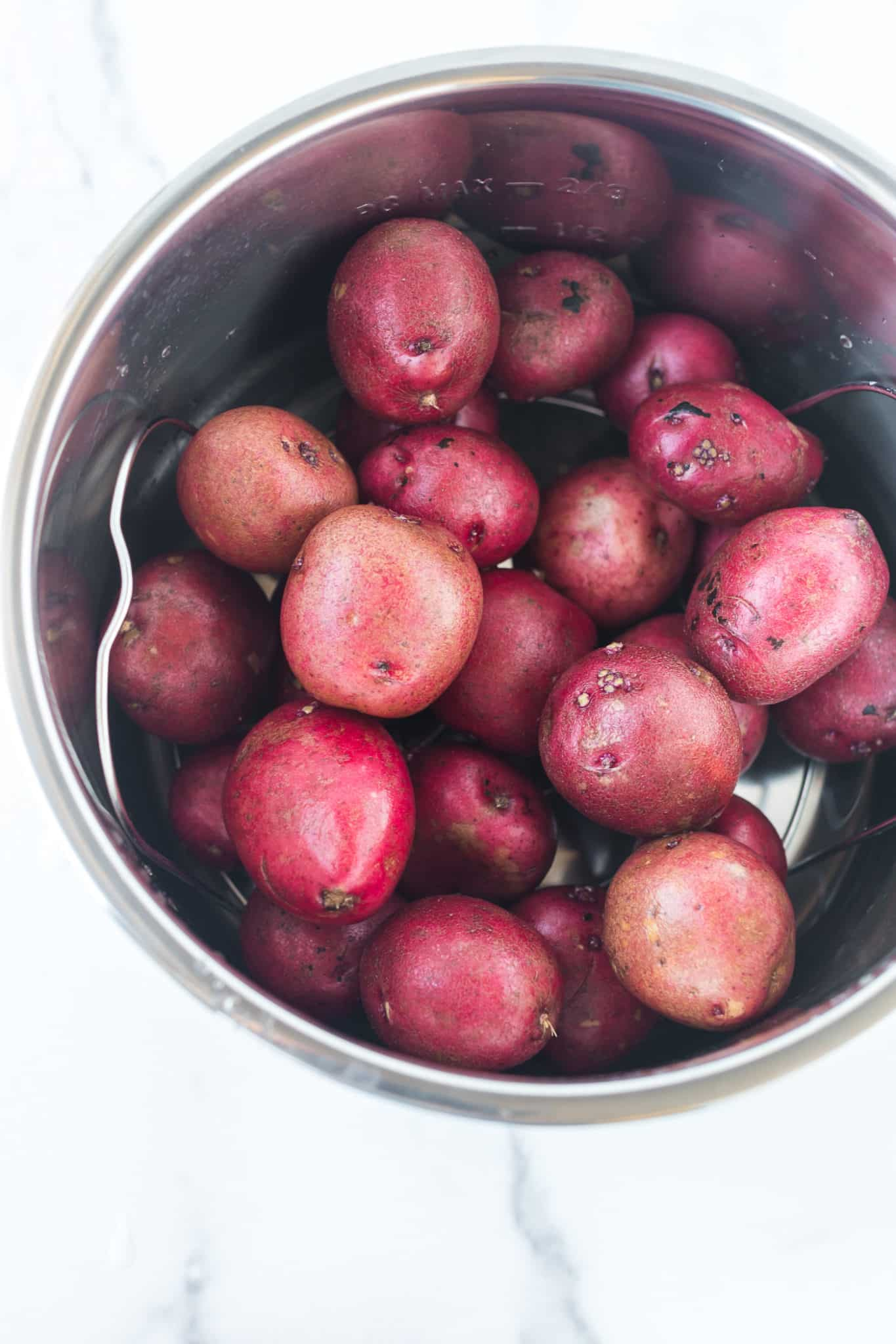 red potatoes cooked in an instant pot pressure cooker