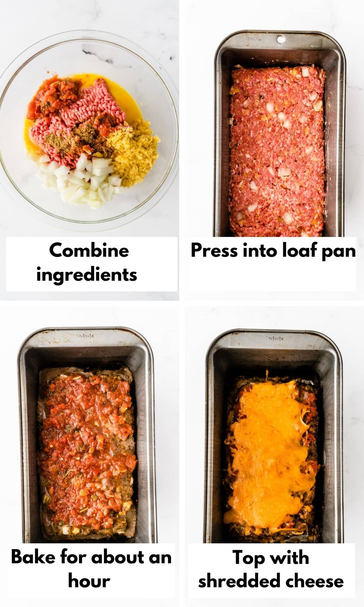 process photos for taco meatloaf