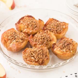 Plate of air fryer baked apples