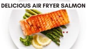 thumbnail for air fryer salmon video