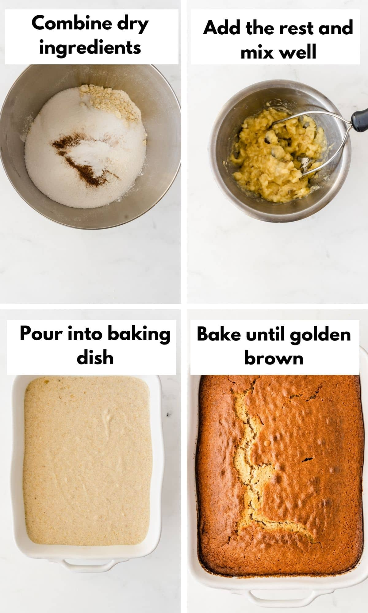 Pictures showing how to make the cake