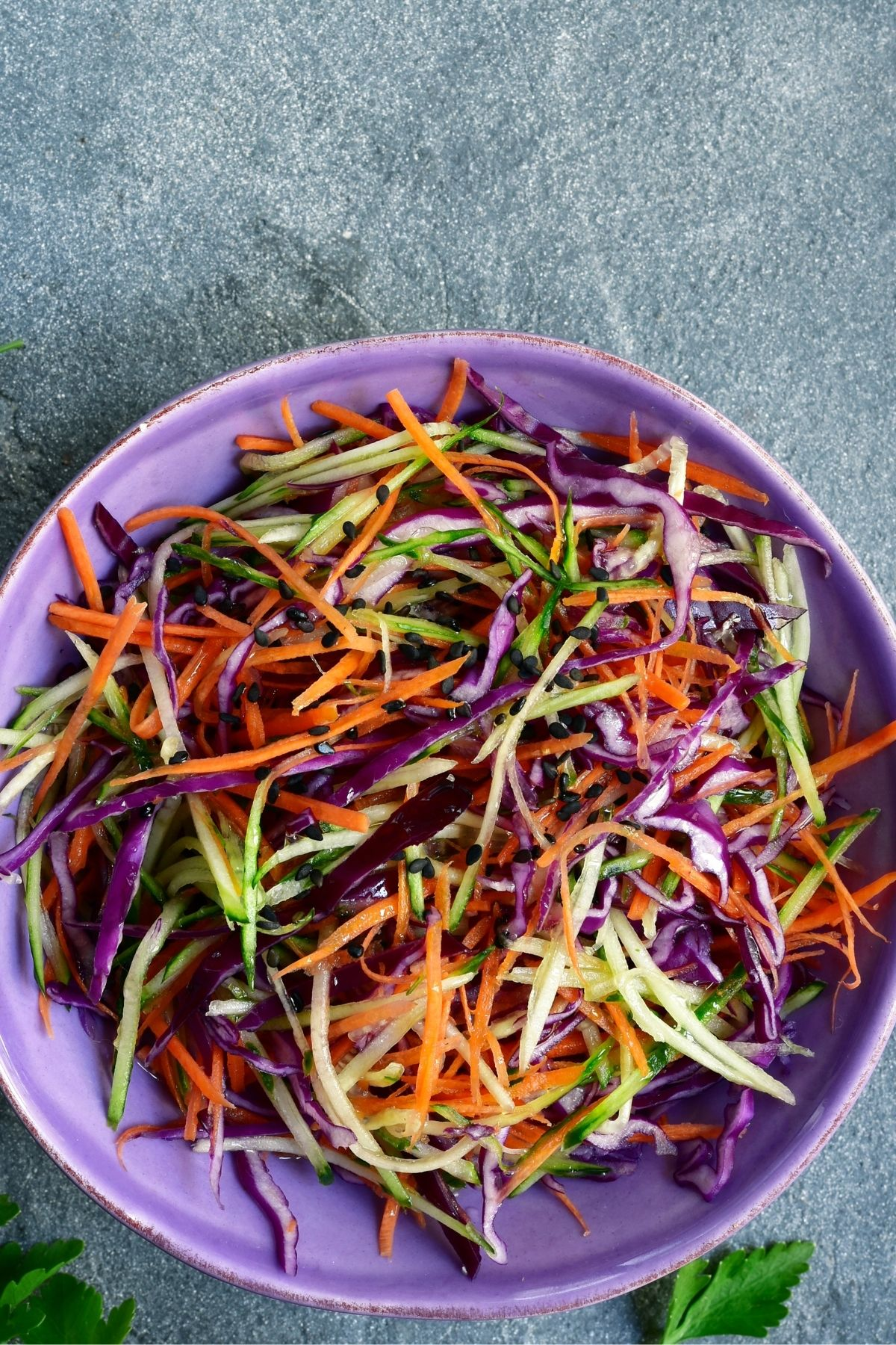 Purple cabbage slaw