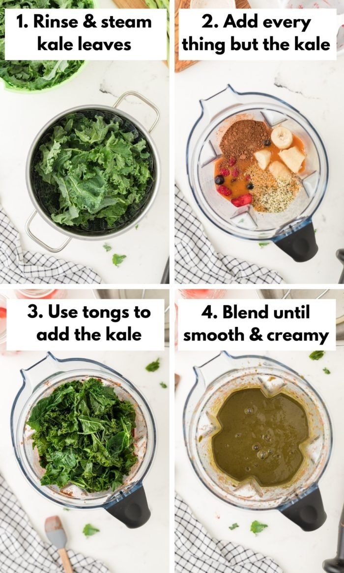 How to make a chocolate kale smoothie