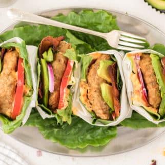 air fryer turkey burgers on a plate