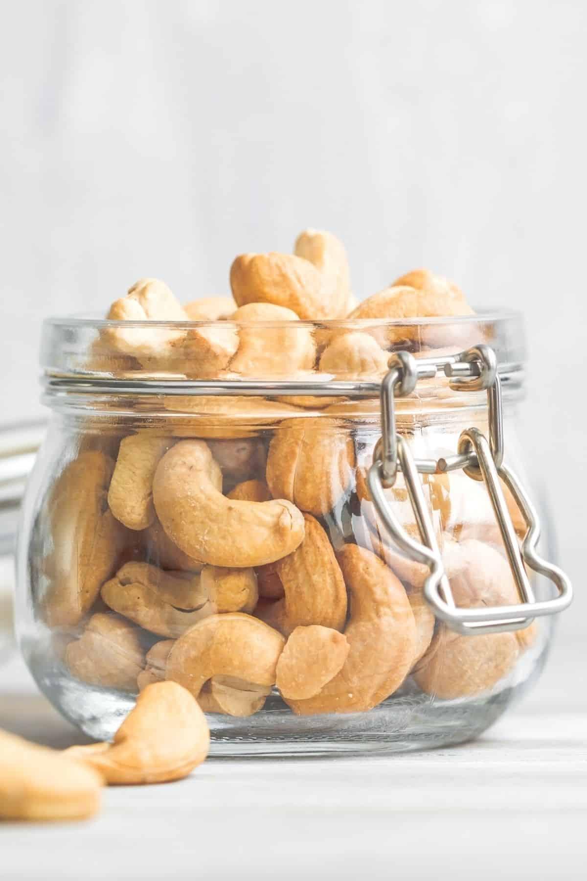jar of cashew nuts