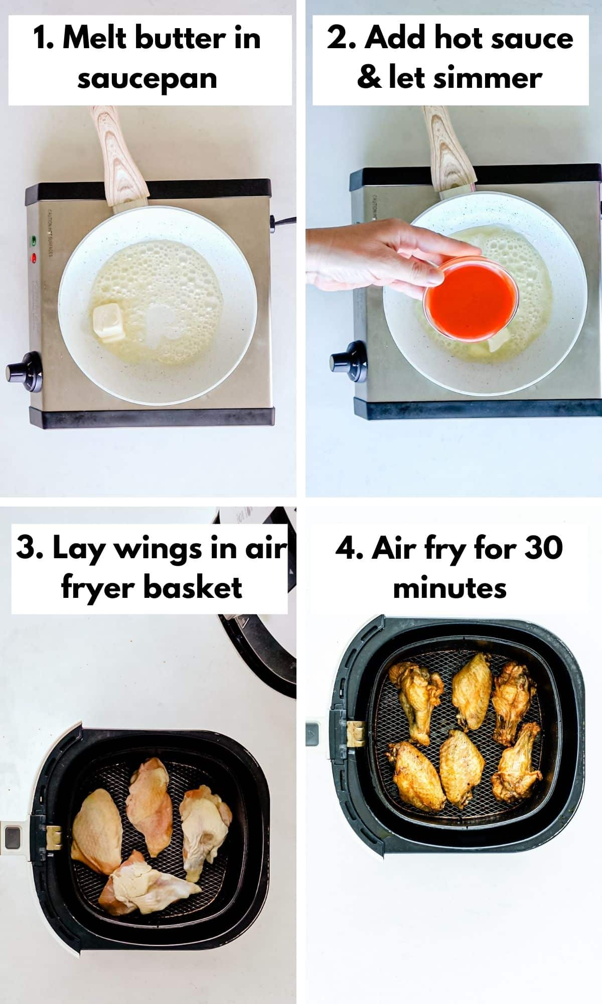 How to make air fryer wings and buffalo sauce