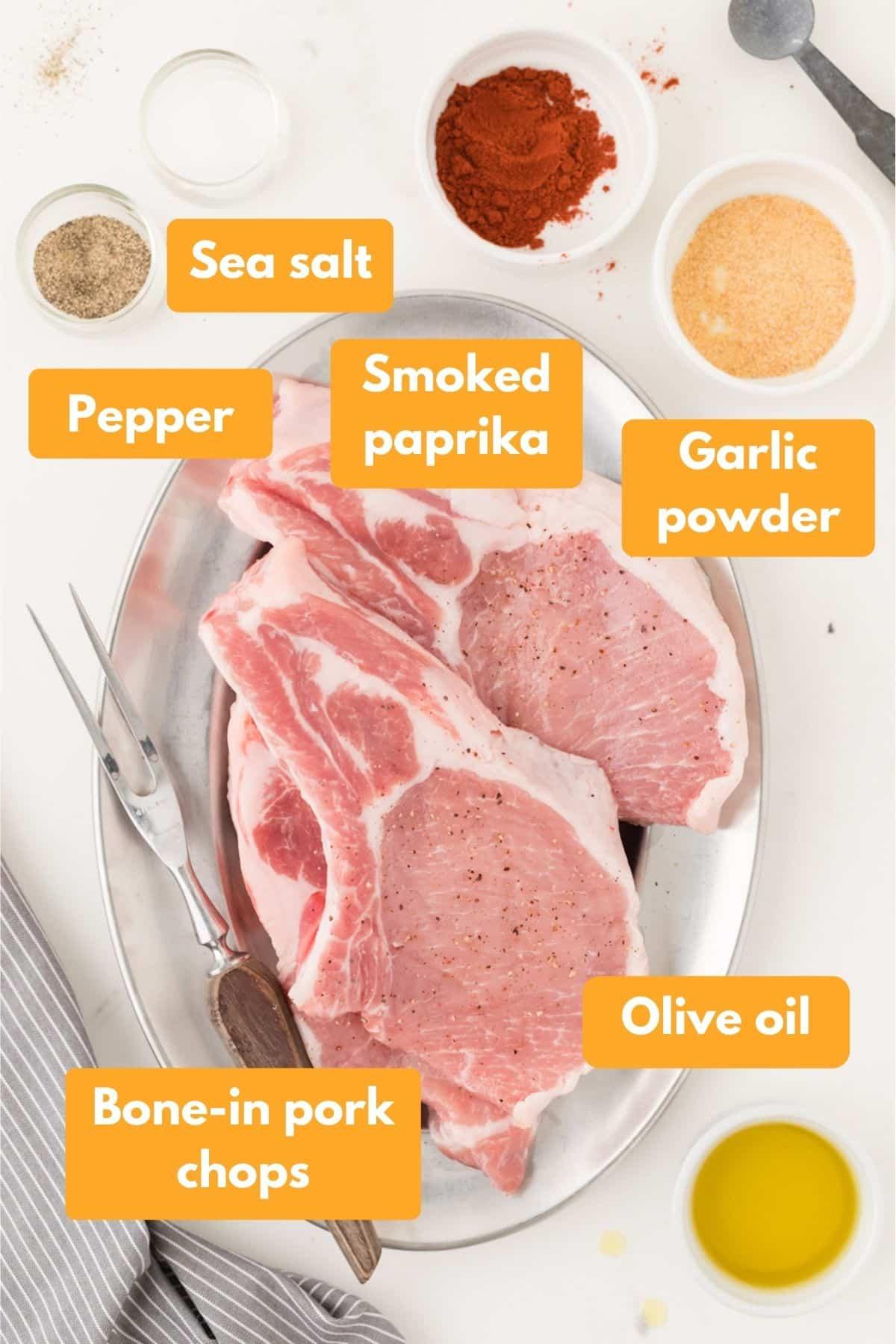 Air fryer pork chop ingredients