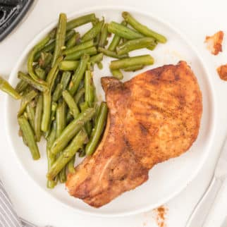 Pork chops with green beans