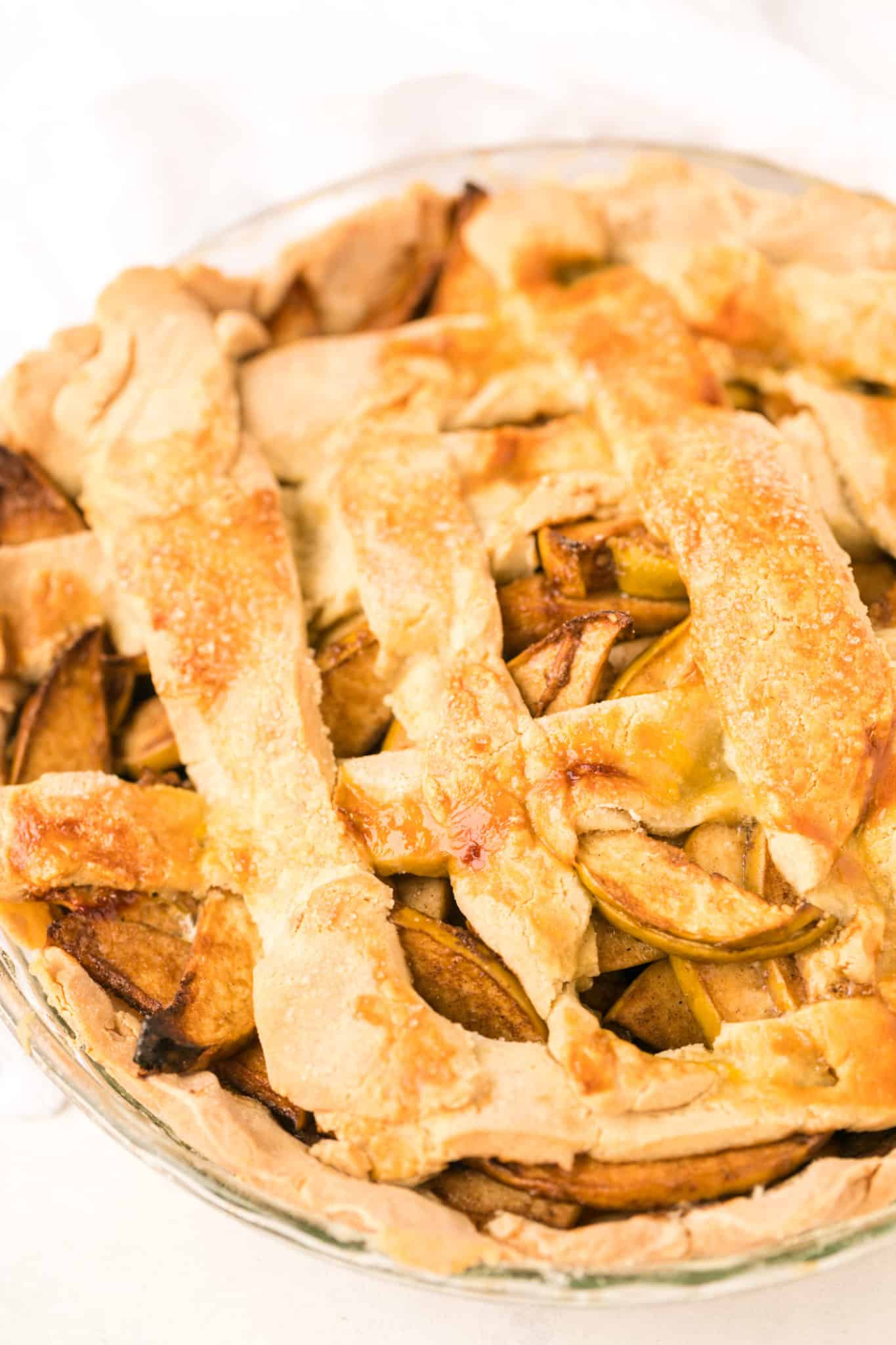 gluten-free apple pie freshly baked from the oven