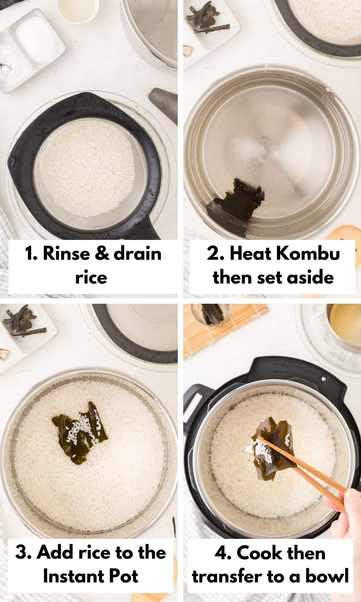 How to make sushi rice in the instant pot