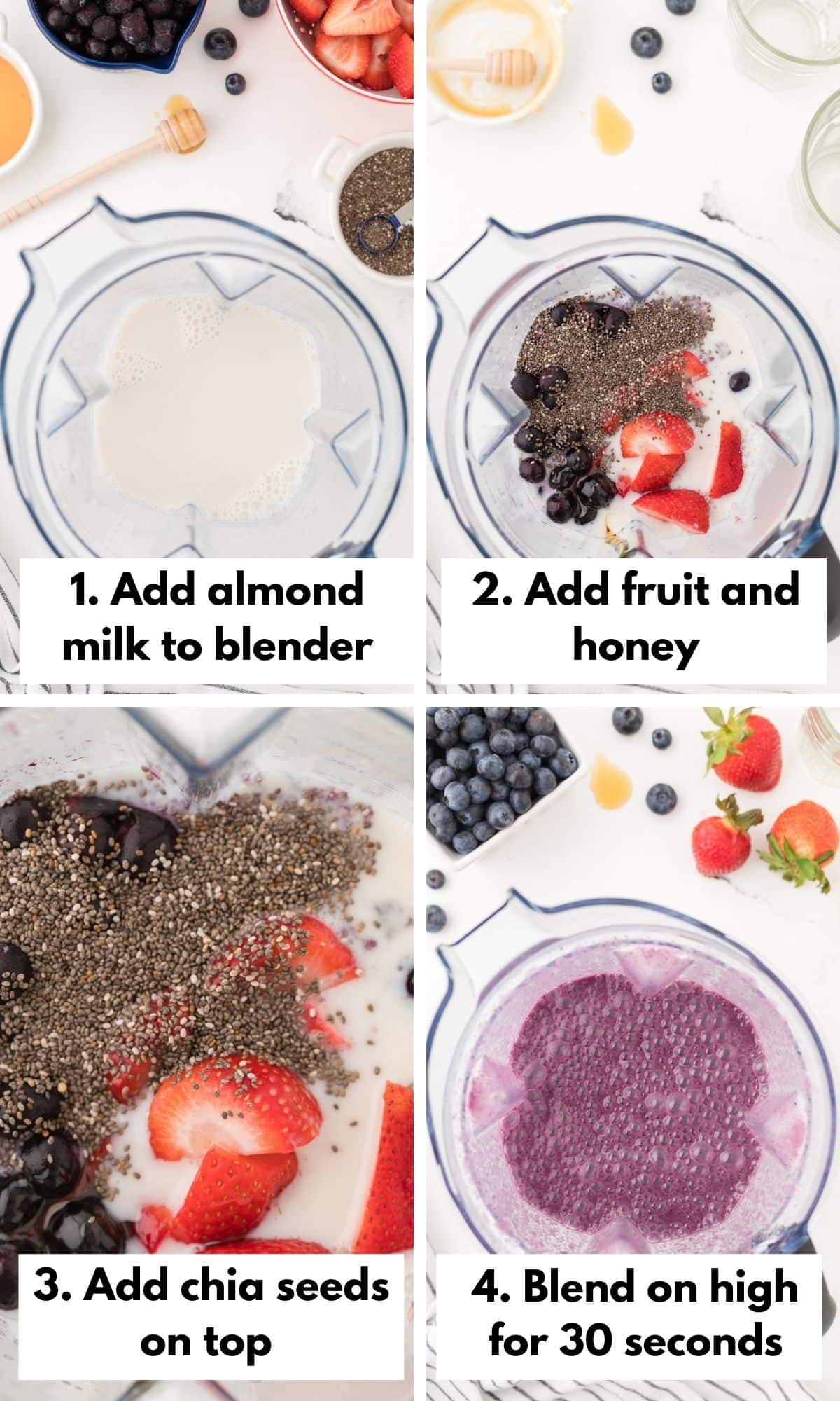 How to make a strawberry blueberry smoothie