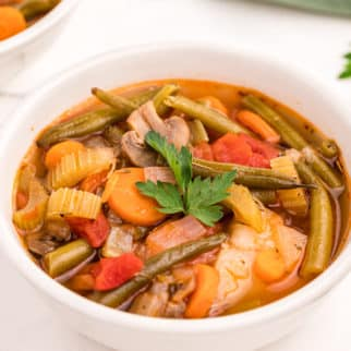 A bowl of vegetable stew