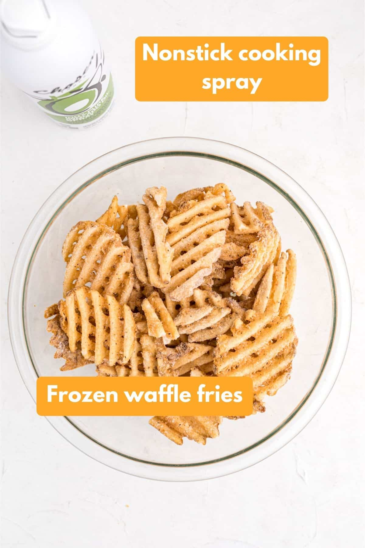 Ingredients for air fryer french fries