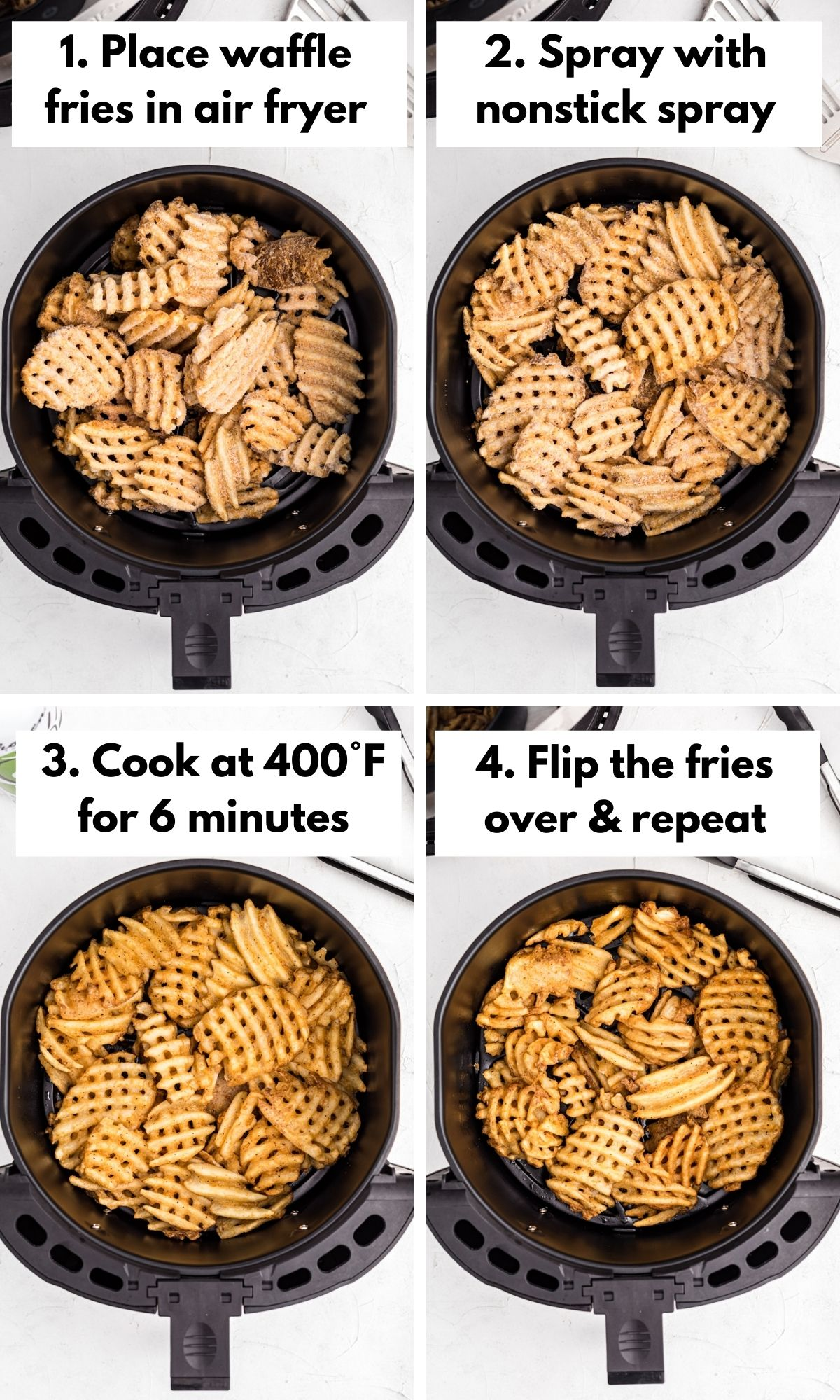how to cook waffle fries in an air fryer