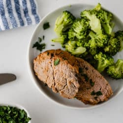 pork tenderloin with broccoli