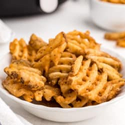 a bowl of french fries