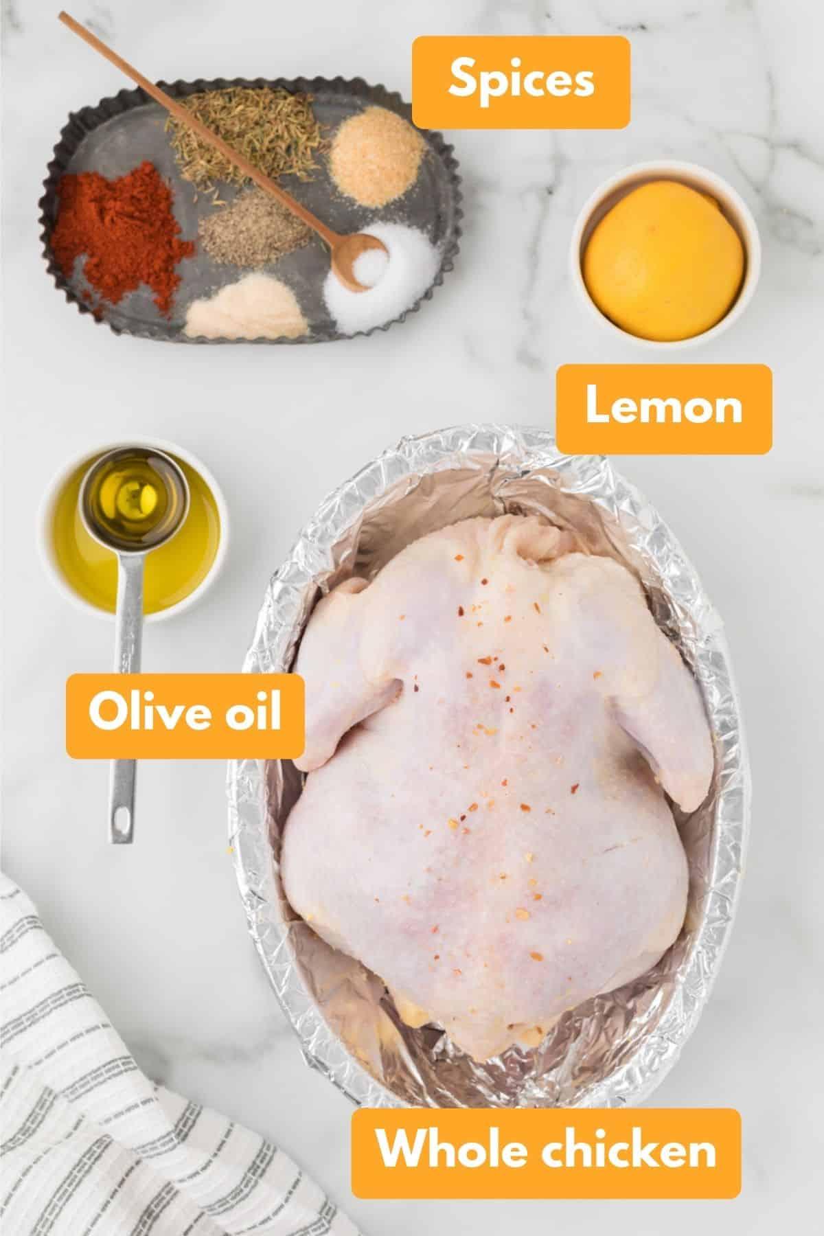 Ingredients to cook air fryer chicken