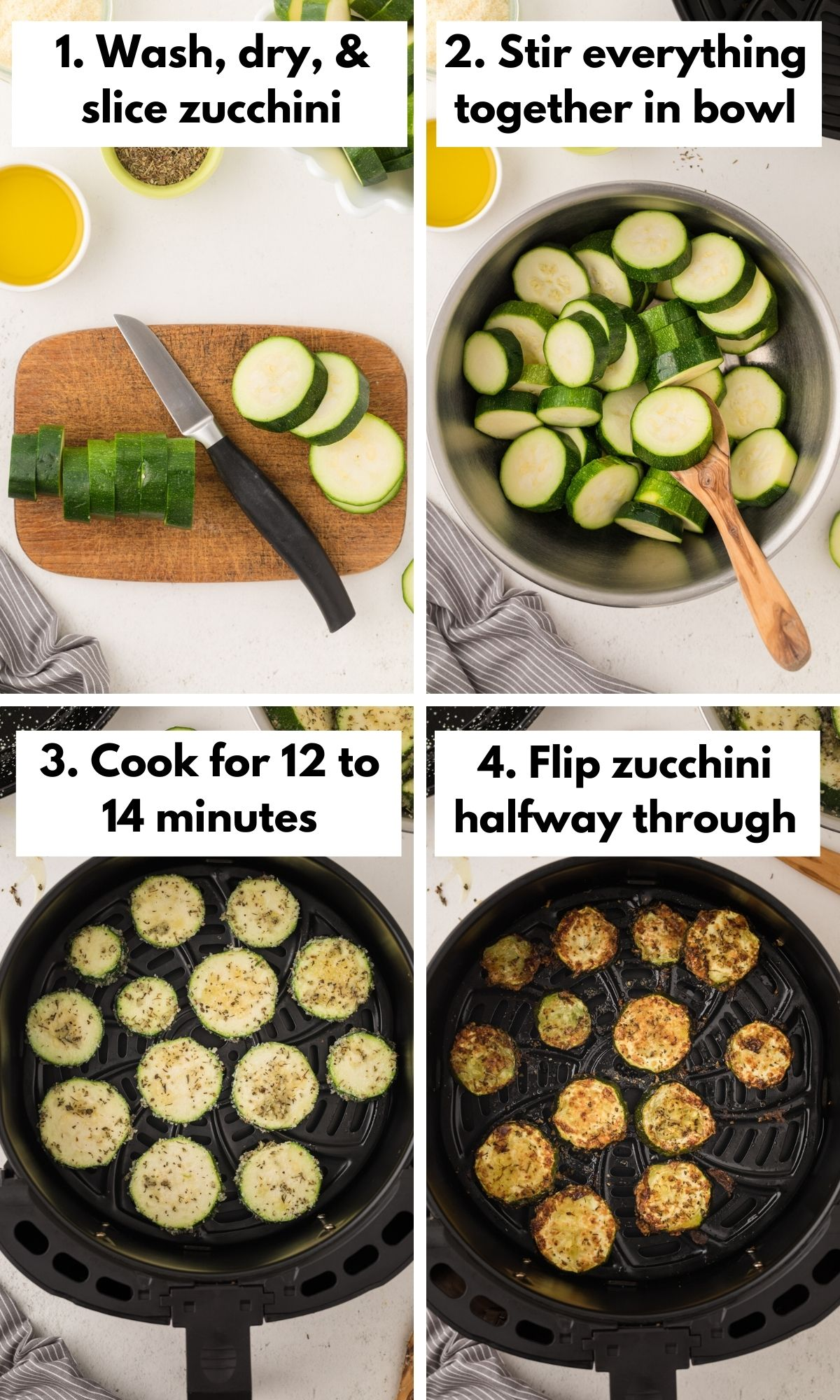 How to make zucchini chips in the air fryer