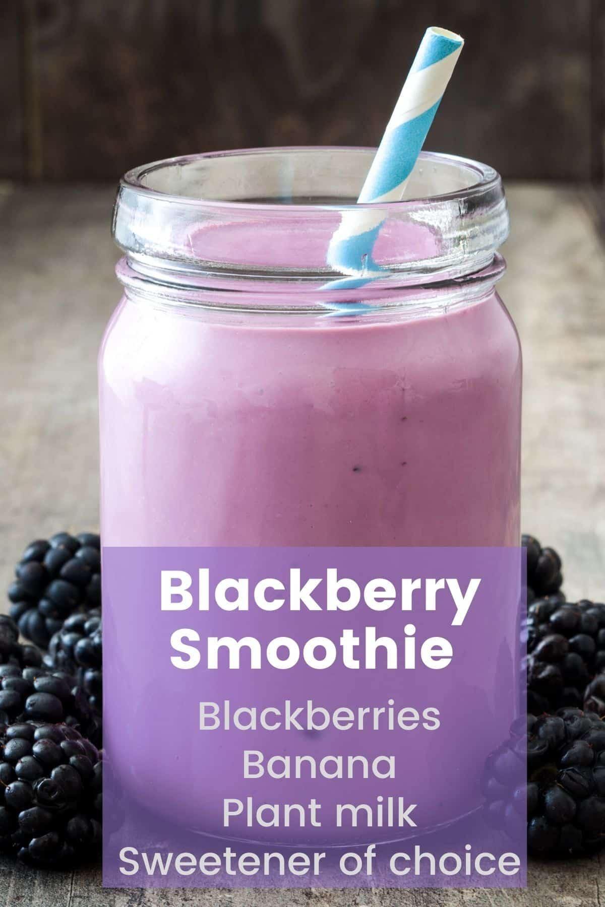 blackberry smoothie infographic