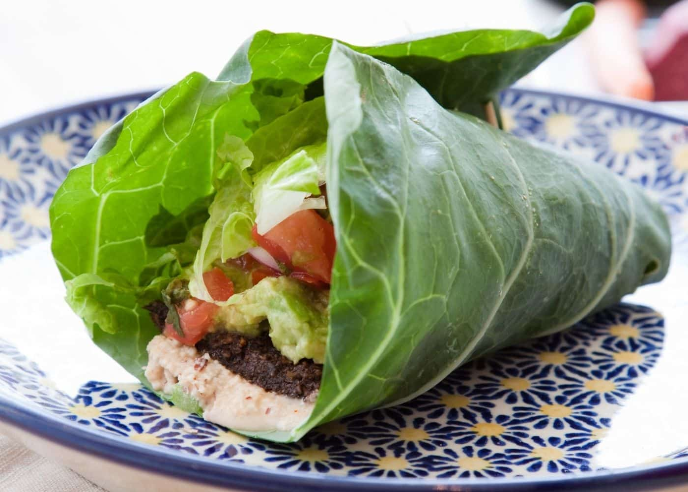 collard wrap with veggies