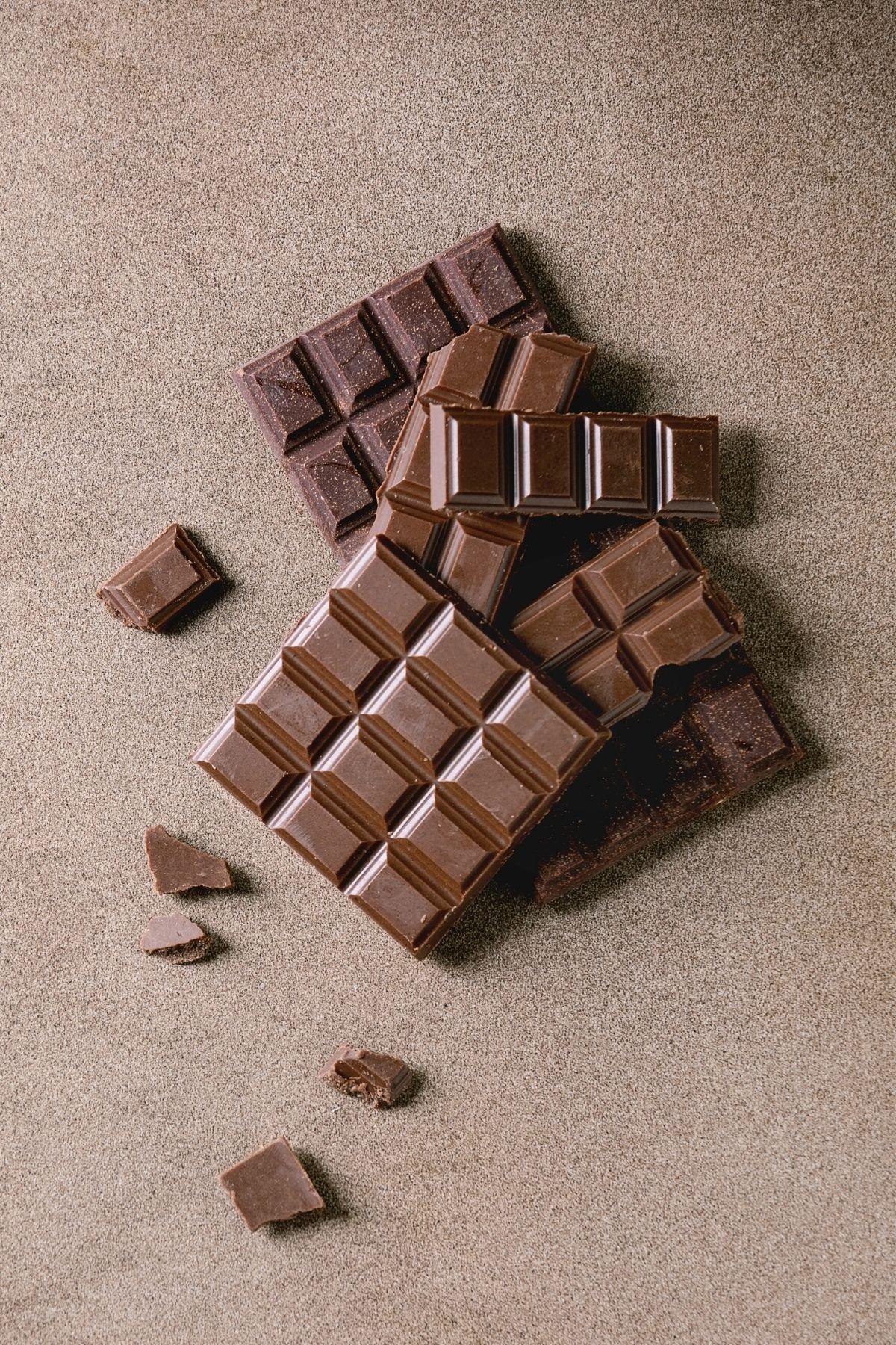 chocolate bar on a table