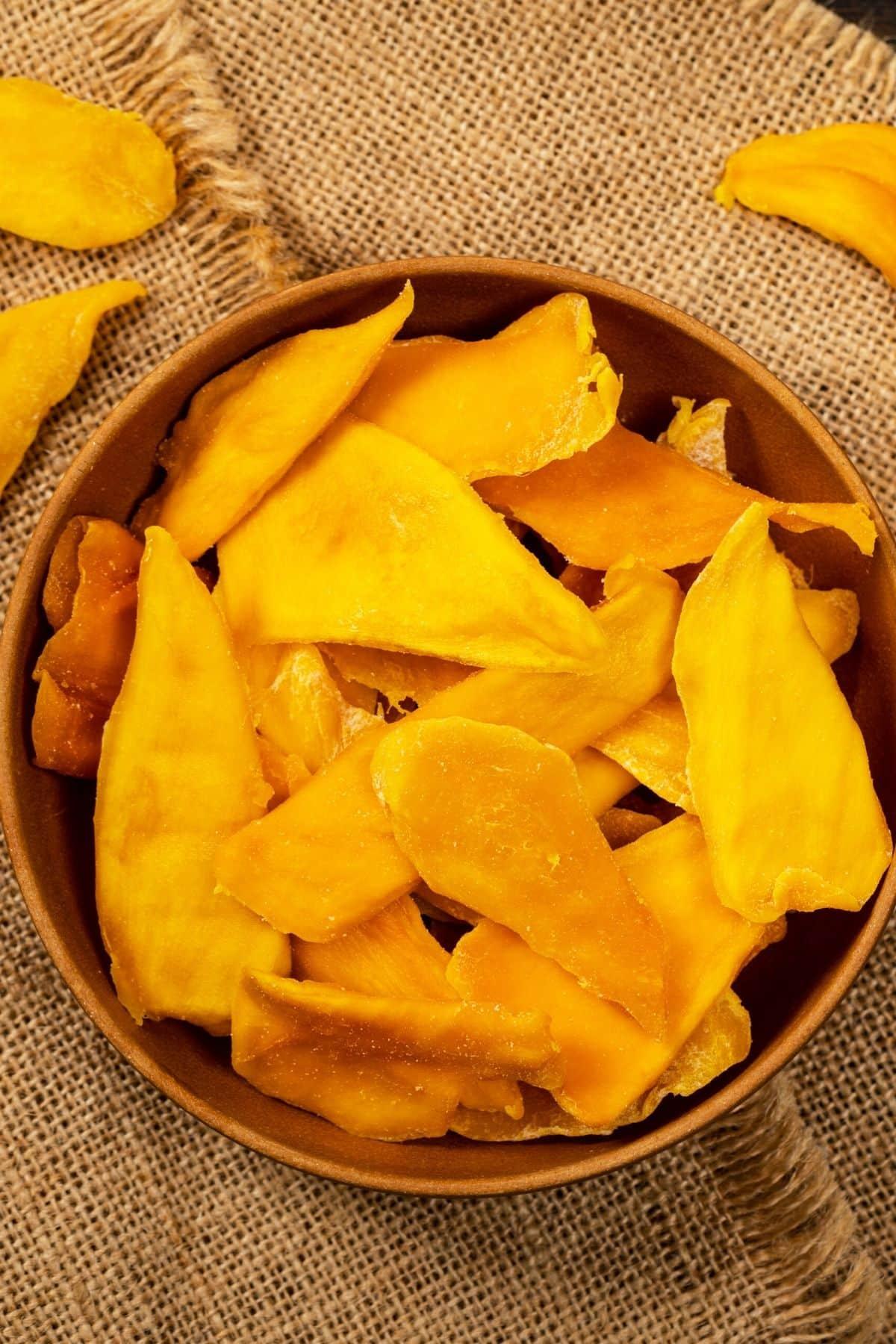 dried mango in a bowl