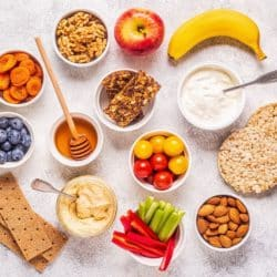 healthy snack ideas on a table