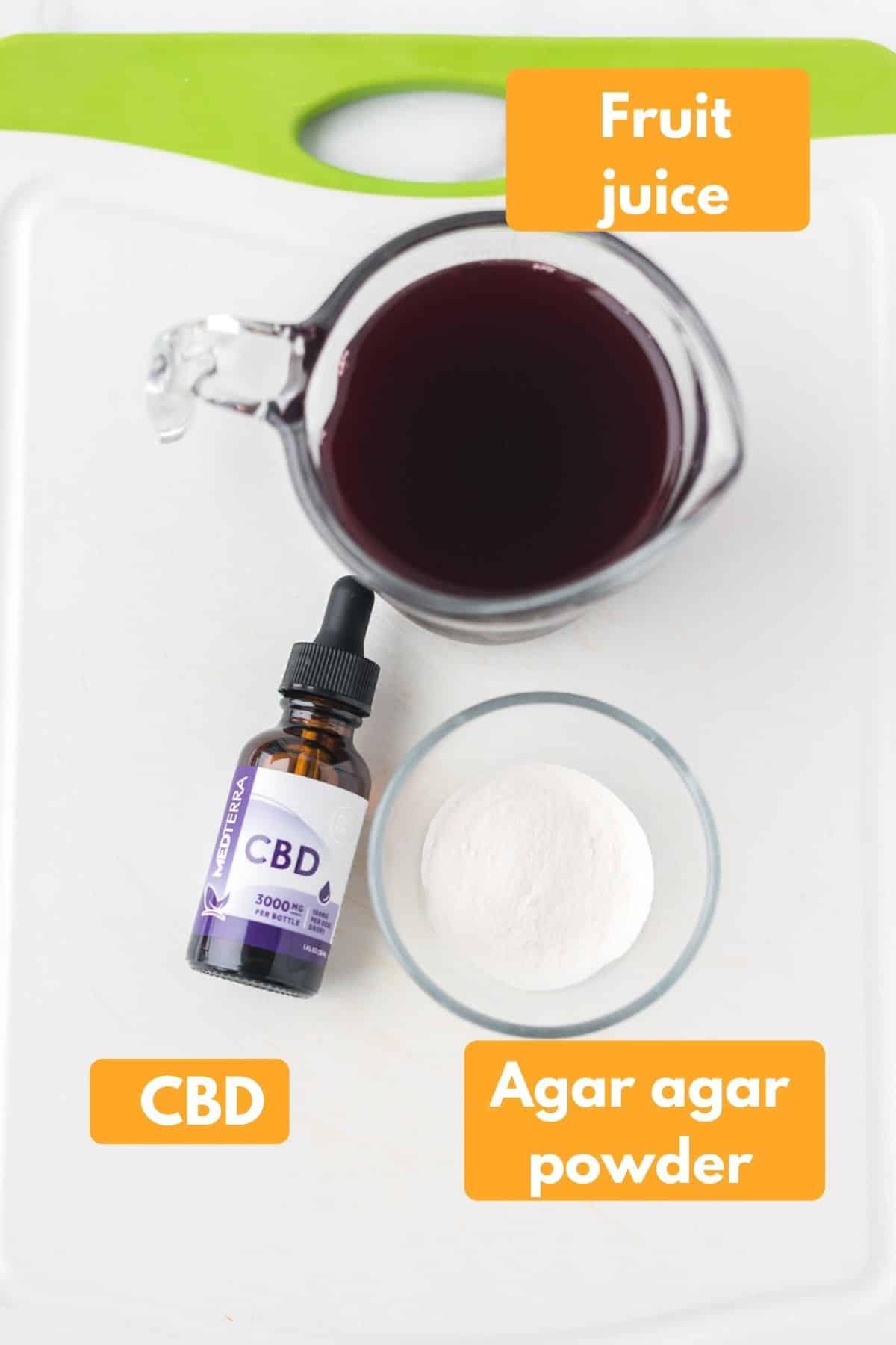 ingredients for making hemp oil vegan gummies