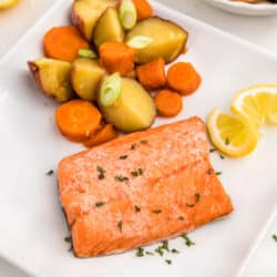 salmon with potatoes and carrots