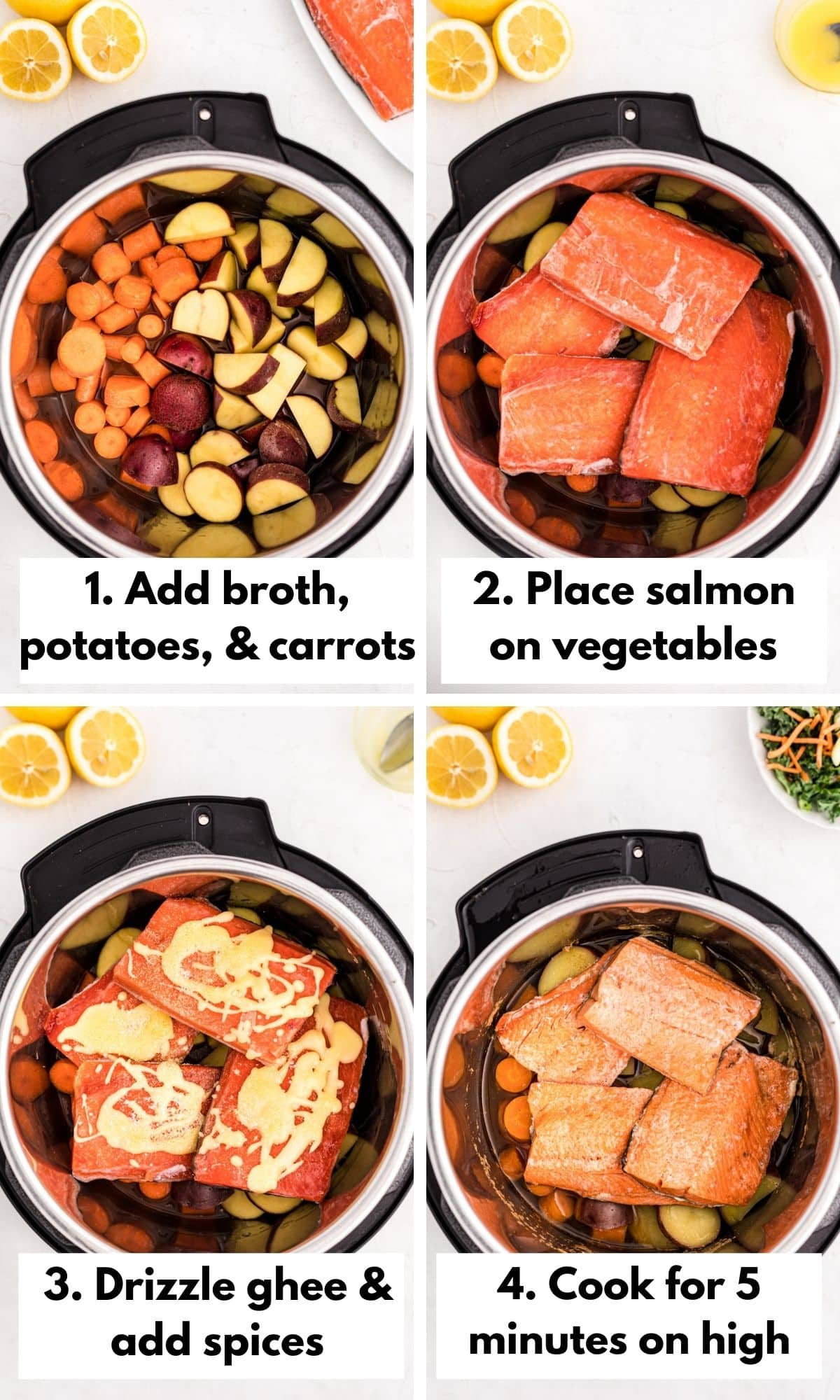 How to make salmon and potatoes in the instant pot