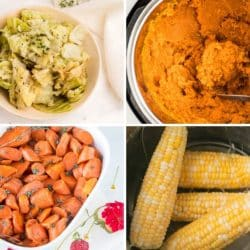 pictures of four instant pot side dishes