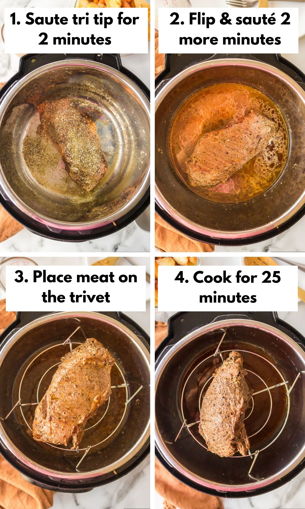 how to cook a tri tip in the instant pot