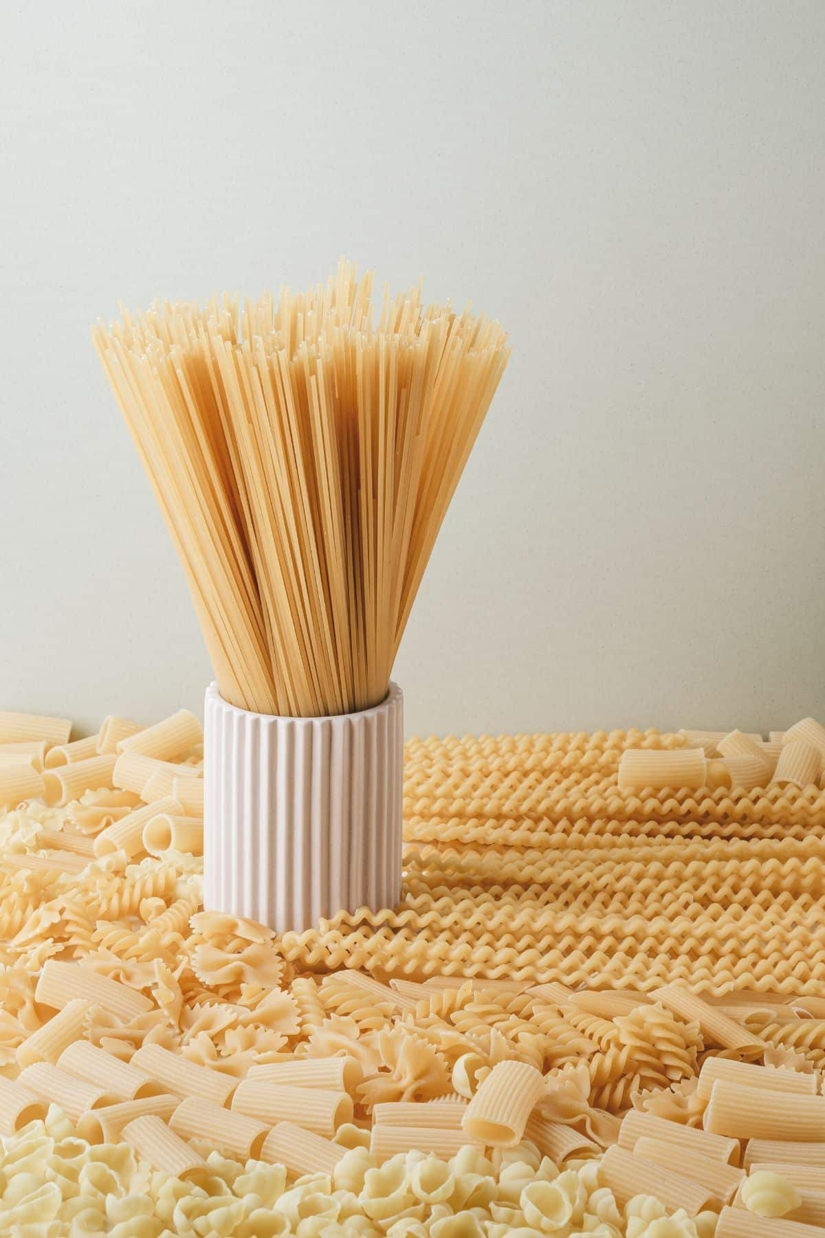 dry pastas of varying types on a table