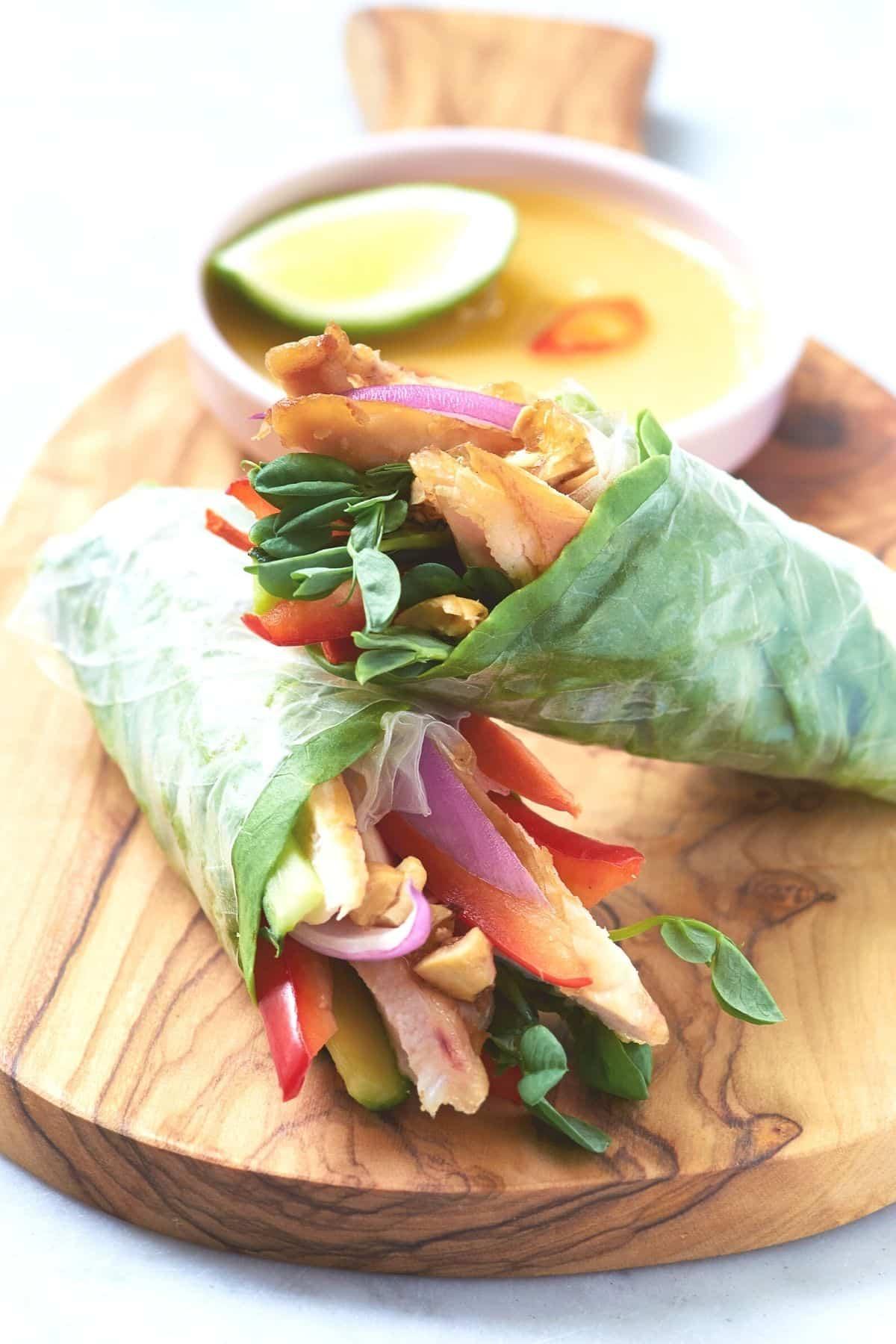 veggies in rice paper