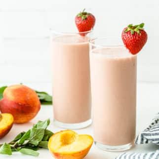 strawberry peach smoothies