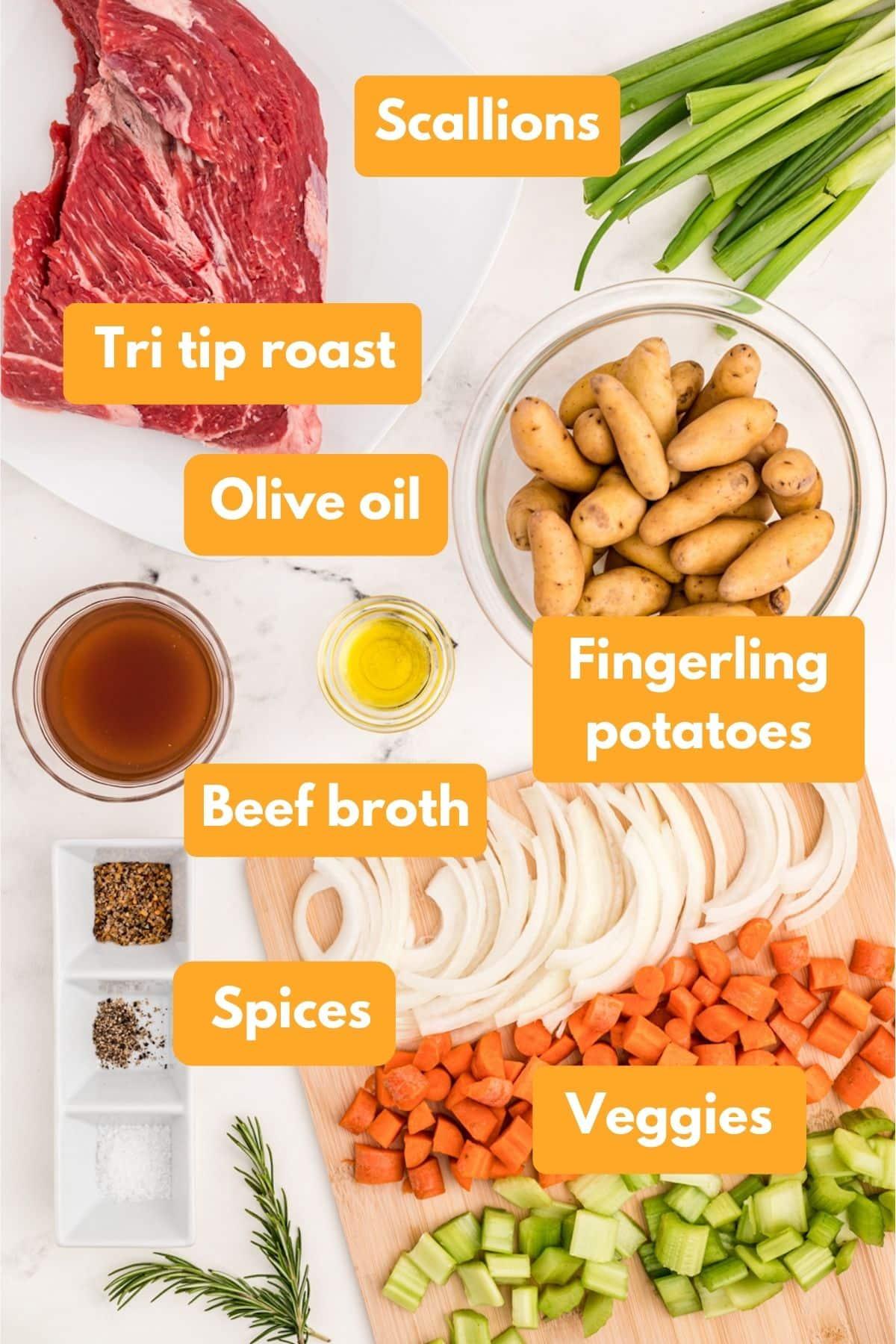 ingredients for slow cooker tri tip roast
