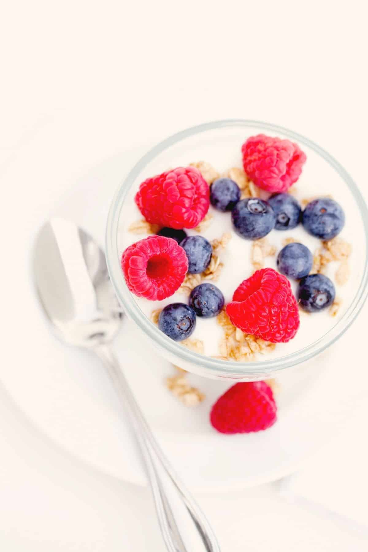 coconut yogurt topped with berries