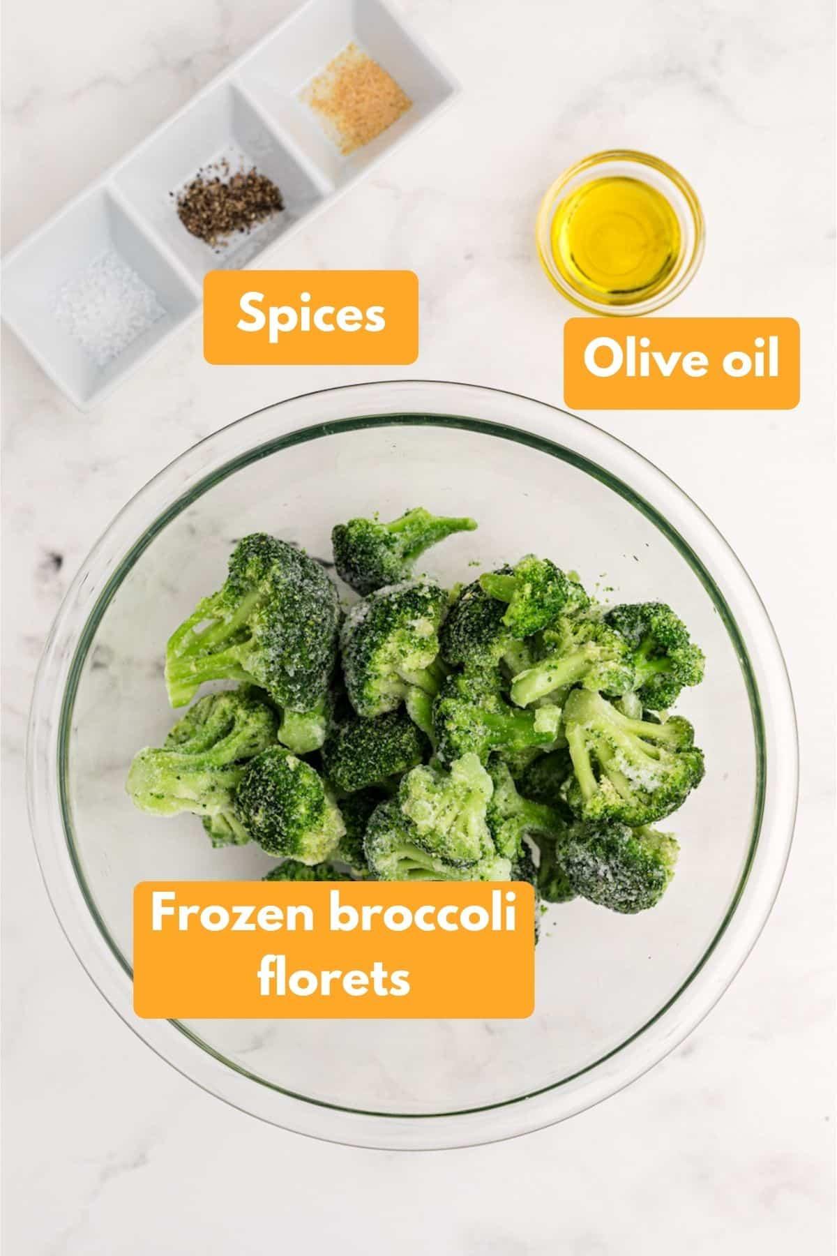 ingredients for air fryer frozen broccoli