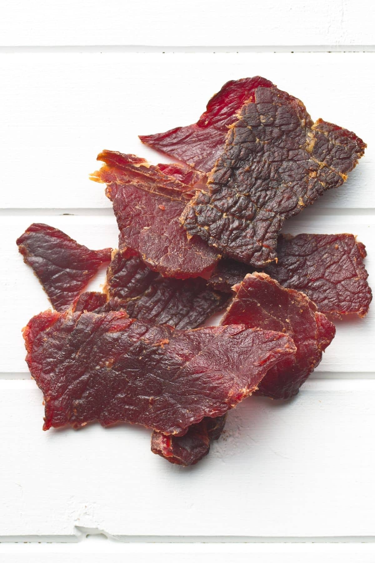 beef jerky on a tabletop