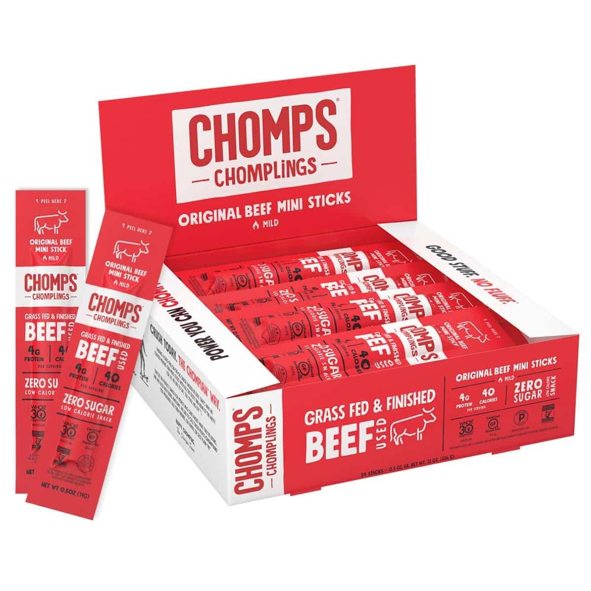 chomps grass-fed beef jerky