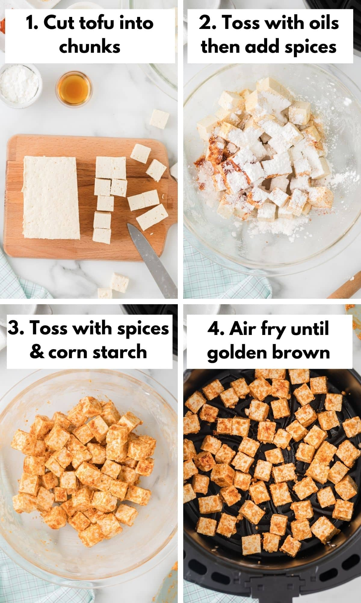 how to make tofu in the air fryer