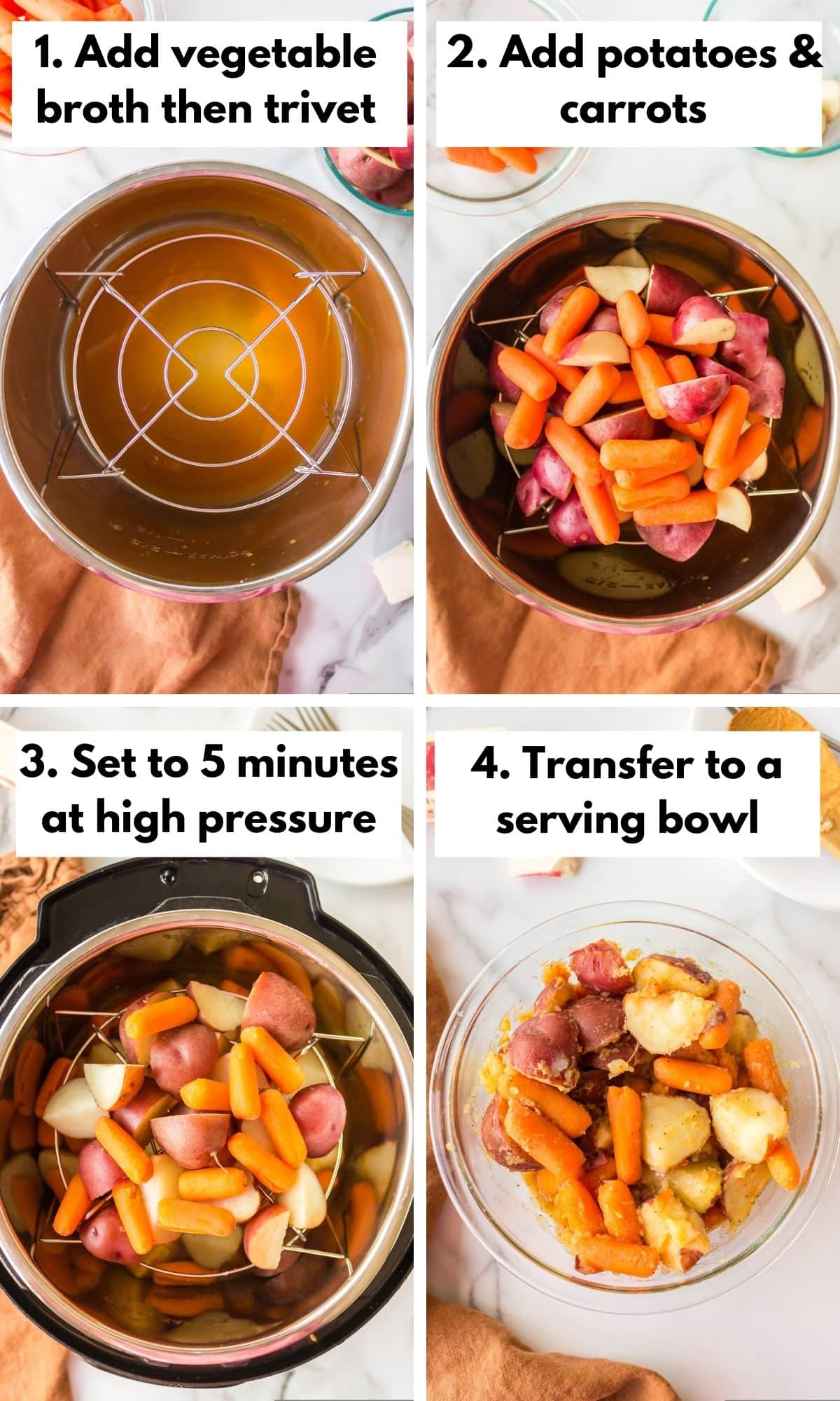 how to make instant pot potatoes and carrots