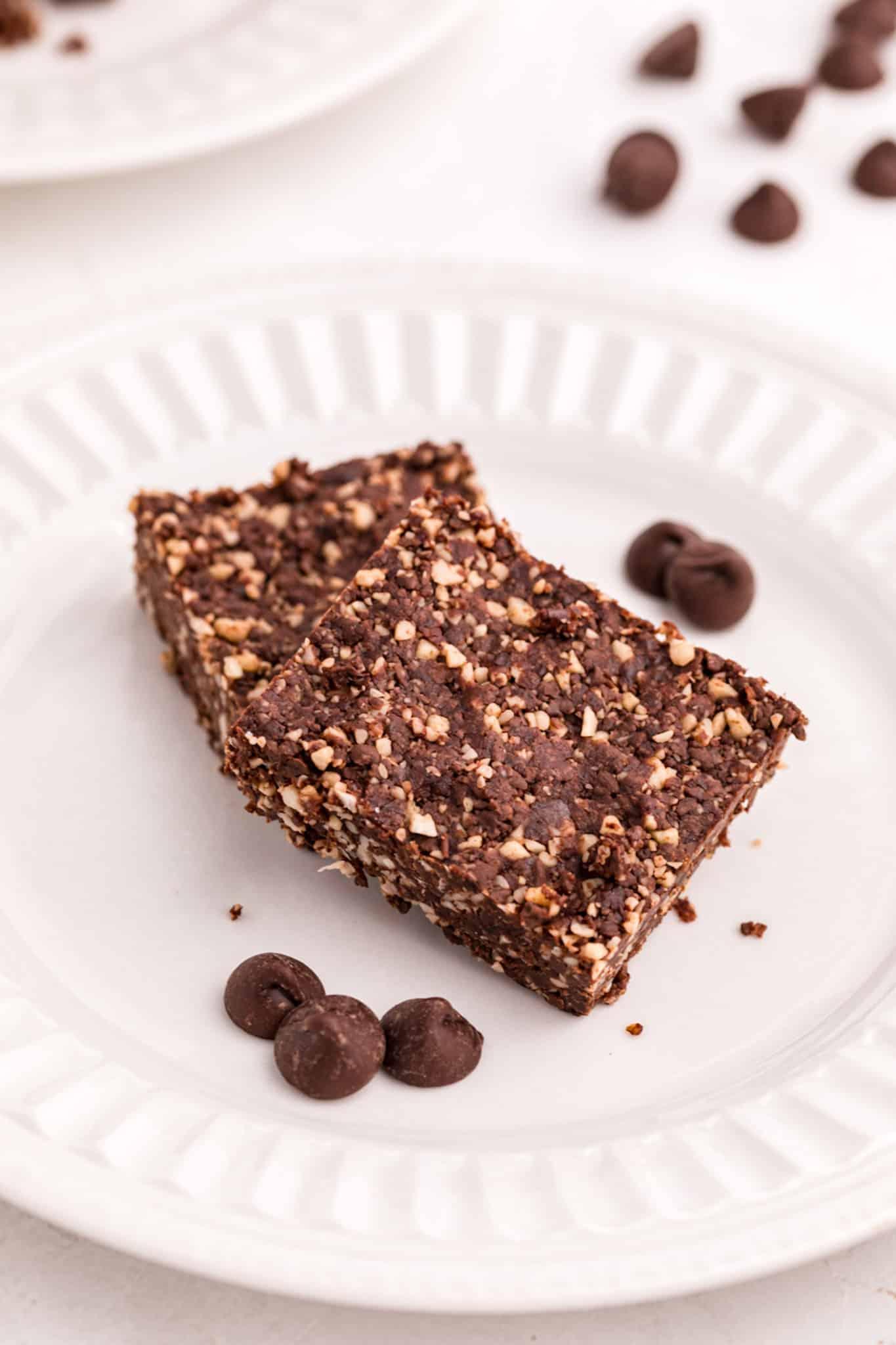 vegan brownies on a plate