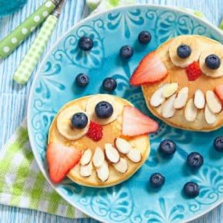 owl pancakes for kids