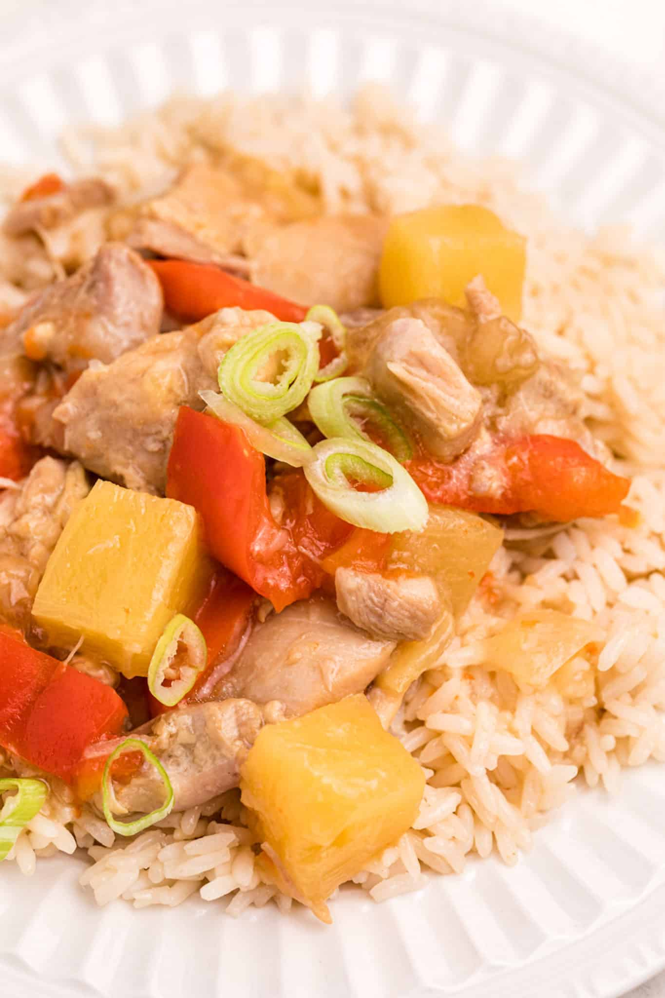 pineapple chicken with rice